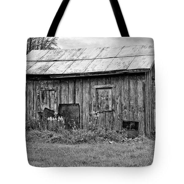 An Orderly World monochrome Tote Bag by Steve Harrington