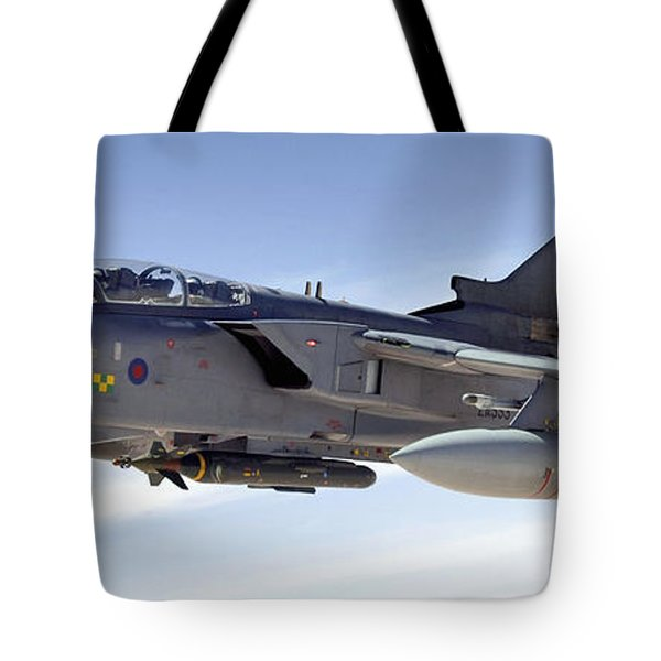 An Raf Tornado Gr-4 Takes On Fuel Tote Bag by Stocktrek Images
