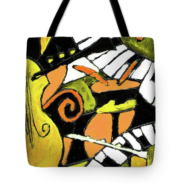 And All That Jazz Orange Tote Bag by Wayne Potrafka