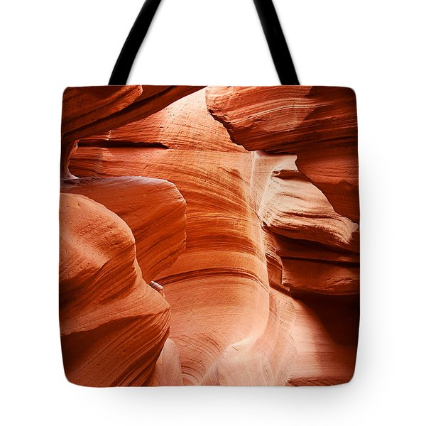 Anelope Canyon - What A Wonderful World Tote Bag by Christine Till