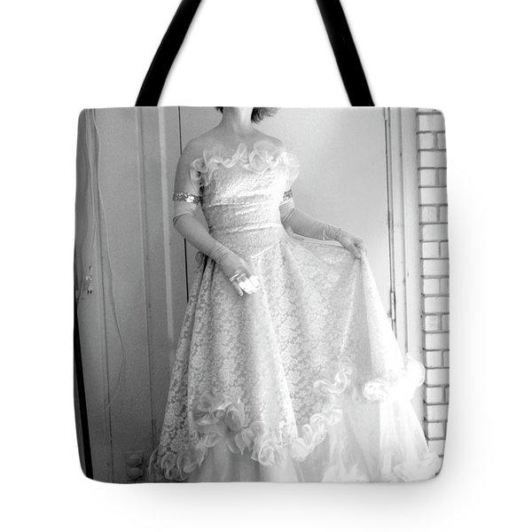 Angel in my backyard Tote Bag by James W Johnson