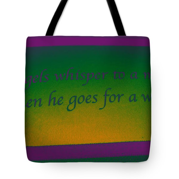 Angels Whisper Tote Bag by Todd Breitling