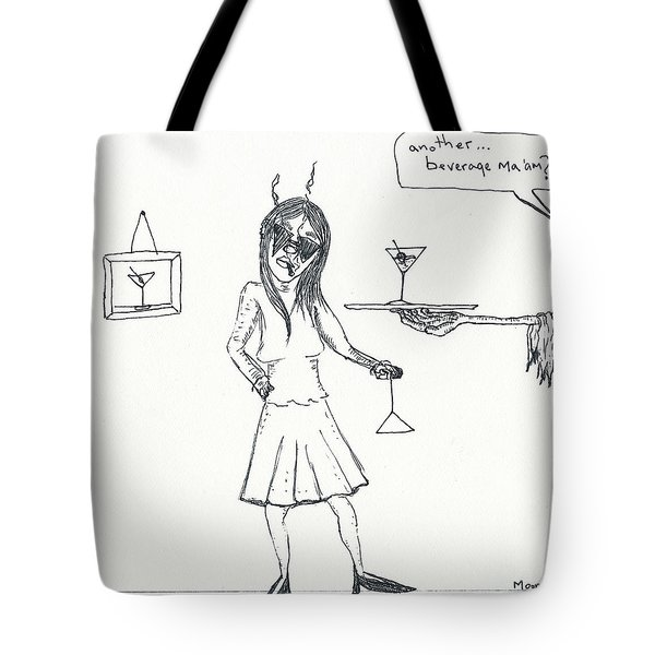 Another Beverage? Tote Bag by Michael Mooney