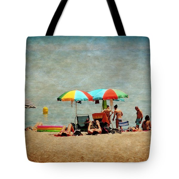 Another Day At The Beach Tote Bag by Mary Machare