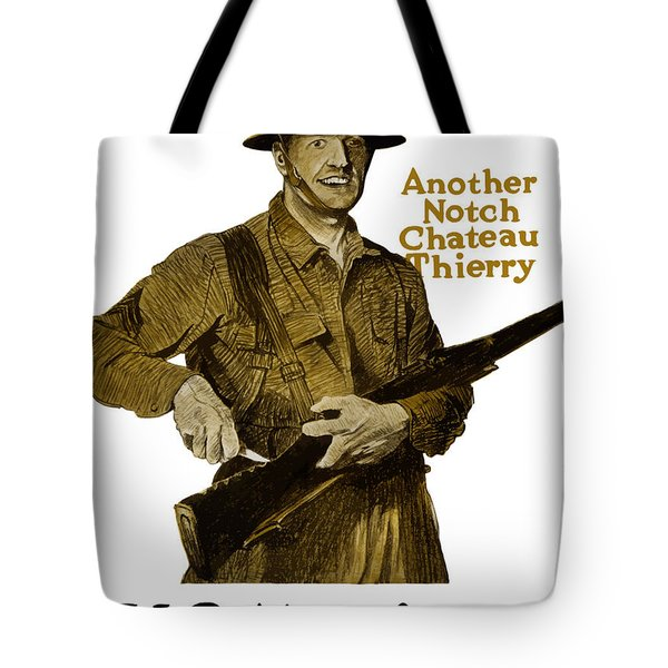 Another Notch Chateau Thierry Tote Bag by War Is Hell Store