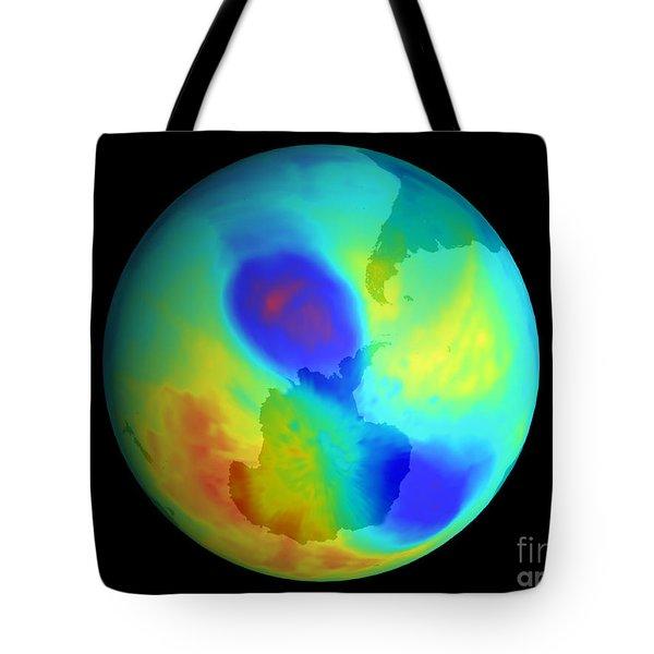 Antarctic Ozone Hole, September 2002 Tote Bag by NASA / Science Source