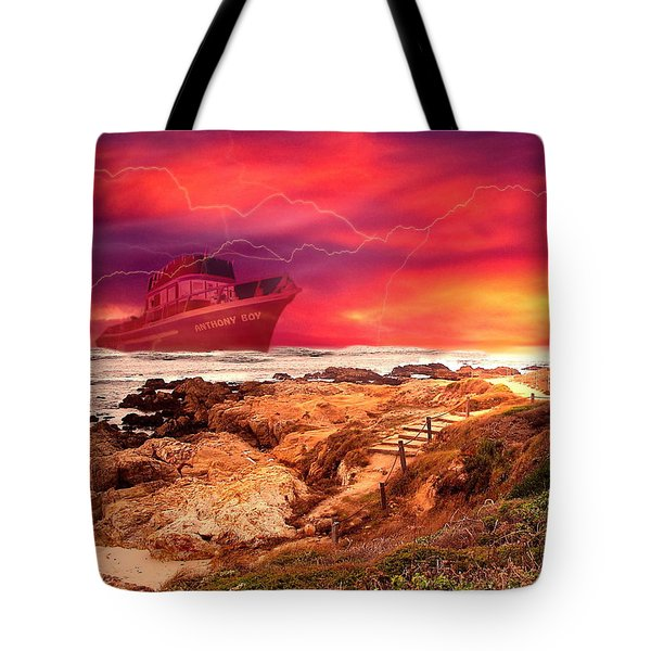 Anthony Boy Waiting Out The Storm Tote Bag by Joyce Dickens