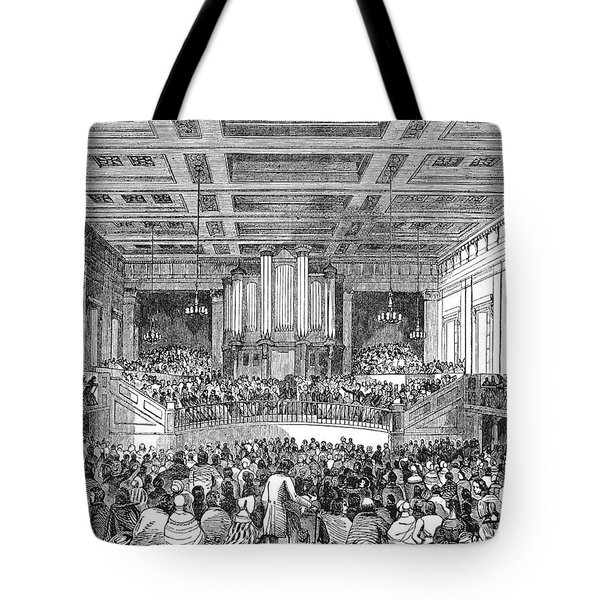 Anti-slavery Meeting, 1842 Tote Bag by Granger
