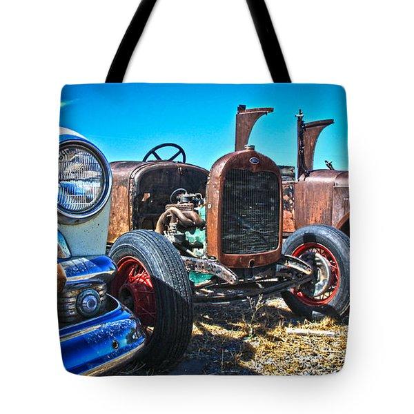 Antique Auto Sales Tote Bag by Steve McKinzie