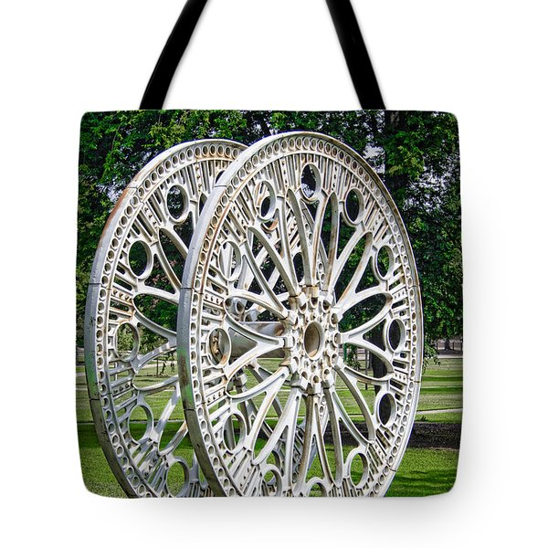 Antique Paddle Wheel University Of Alabama Birmingham Tote Bag by Kathy Clark