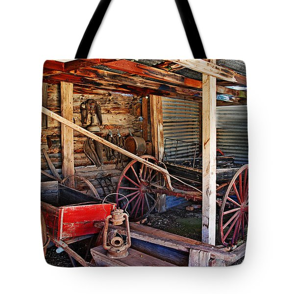 Antique Shed Tote Bag by Melany Sarafis