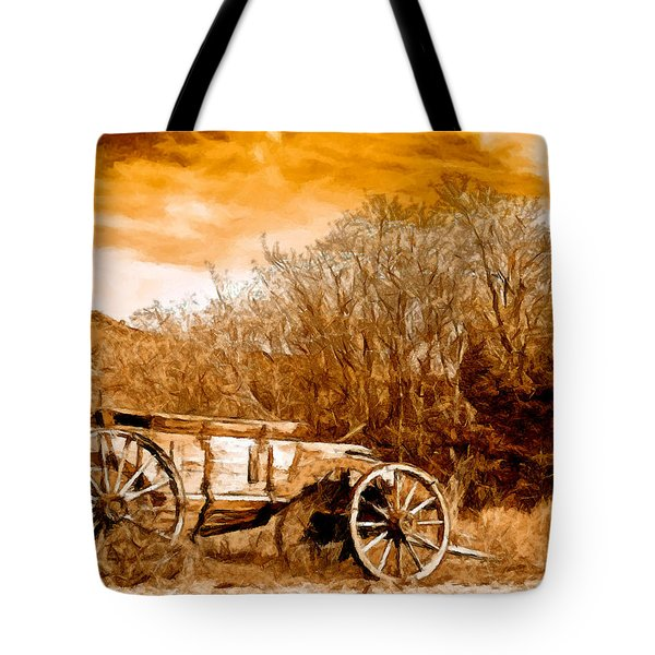 Antique Wagon Tote Bag by Bob and Nadine Johnston