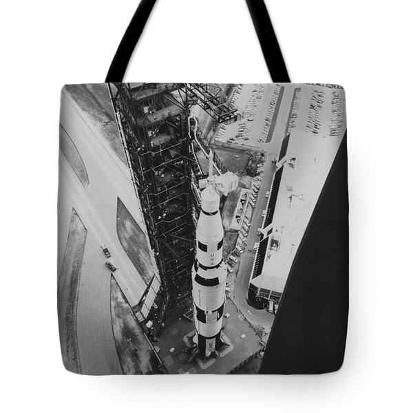 Apollo 500-f Saturn V Rocket Tote Bag by NASA / Science Source