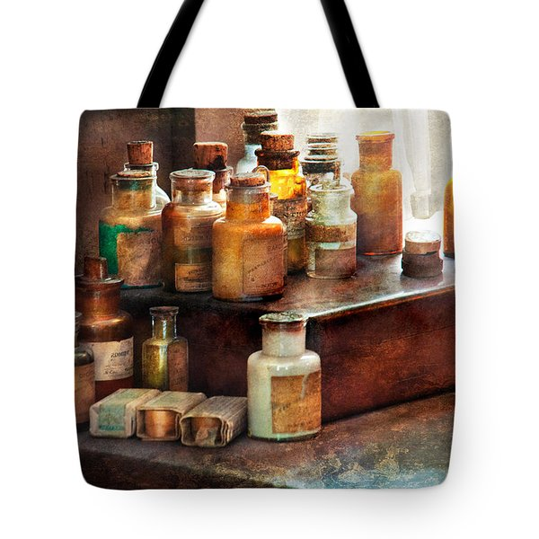 Apothecary - Chemical Ingredients  Tote Bag by Mike Savad
