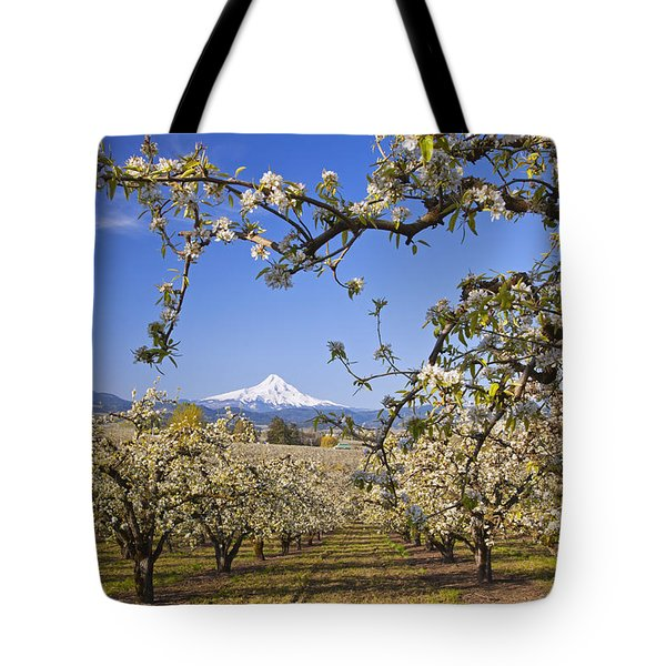 Apple Blossom Trees In Hood River Tote Bag by Craig Tuttle