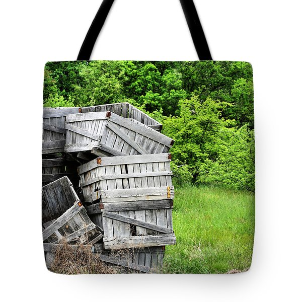 Apple Crates Tote Bag by JC Findley