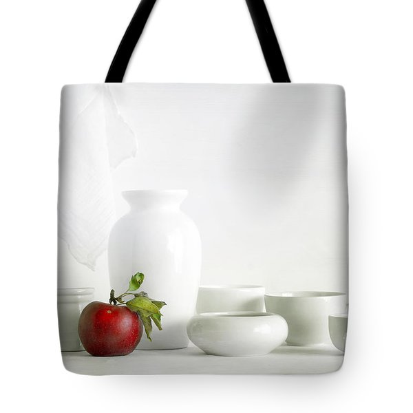 Apple Tote Bag by Matild Balogh