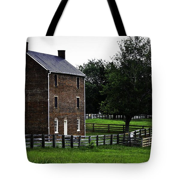 Appomattox County Jail Tote Bag by Teresa Mucha