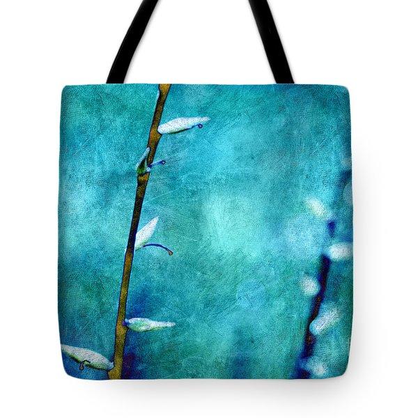 Aqua and Indigo Tote Bag by Aimelle