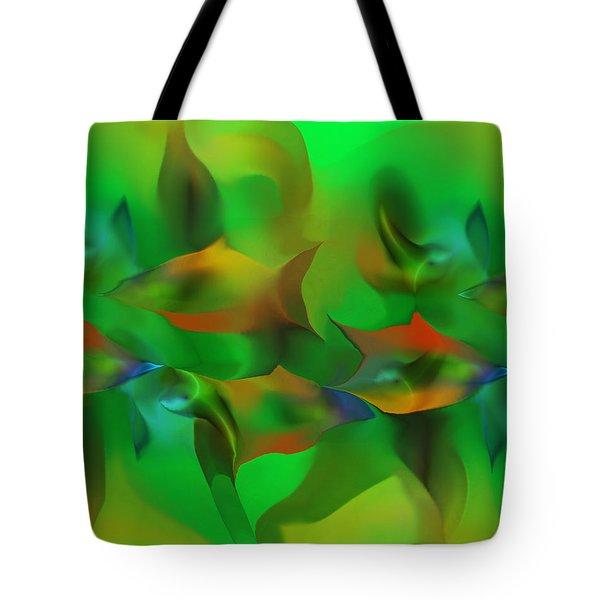 Aqua Residents Tote Bag by David Lane