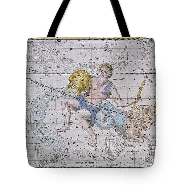 Aquarius And Capricorn Tote Bag by A Jamieson