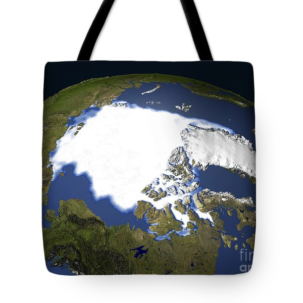 Arctic Sea Ice, 1979 Tote Bag by NASA / Science Source