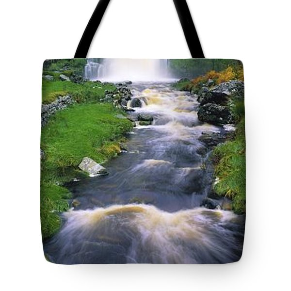 Ardara, Co Donegal, Ireland Waterfall Tote Bag by The Irish Image Collection