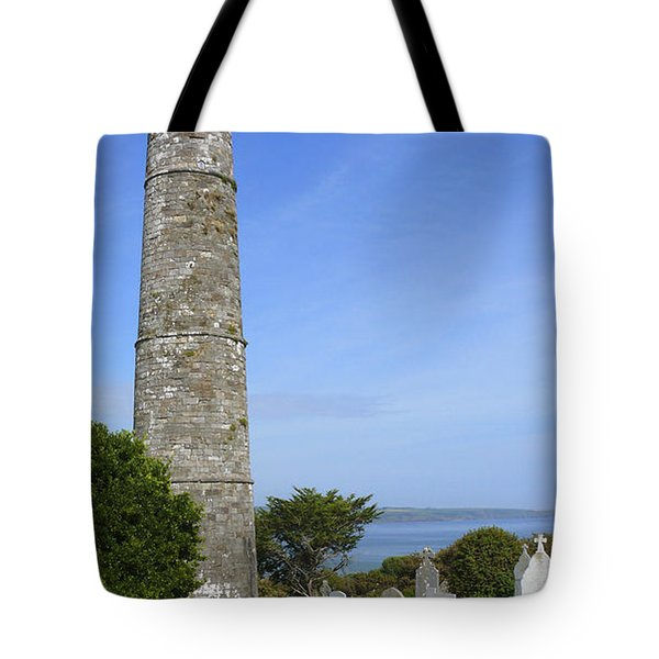 Ardmore Round Tower - Ireland Tote Bag by Mike McGlothlen
