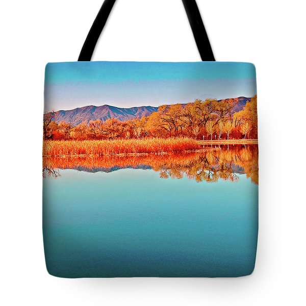 Arizona Dead Horse State Park Tote Bag by  Bob and Nadine Johnston