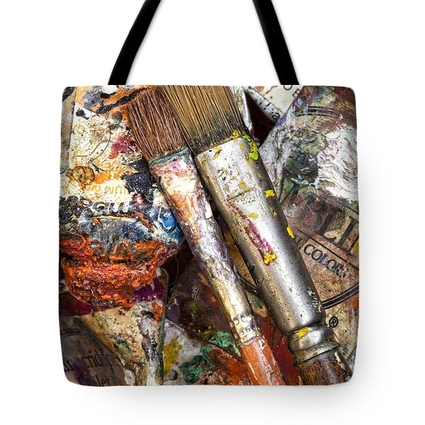Art Is Messy 2 Tote Bag by Carol Leigh
