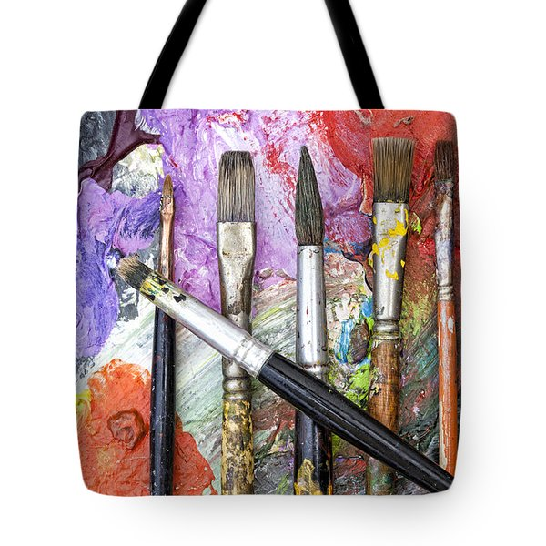 Art Is Messy 6 Tote Bag by Carol Leigh