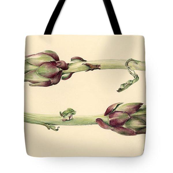 Artichokes Tote Bag by Alison Cooper