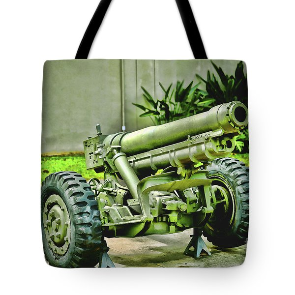Artillery Tote Bag by Cheryl Young