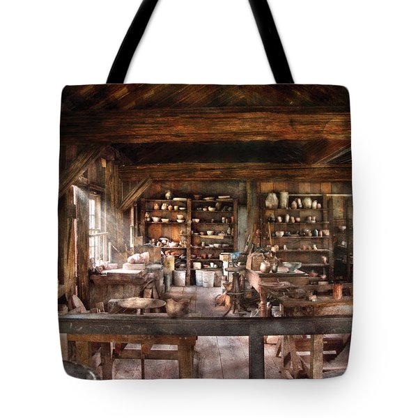 Artist - Potter - The Potters Shop  Tote Bag by Mike Savad