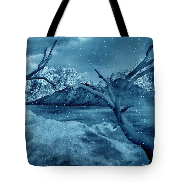 Artists Concept Of A Dangerous Snow Tote Bag by Mark Stevenson