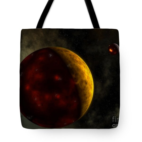 Artists Concept Of A Young, Turbulent Tote Bag by Walter Myers