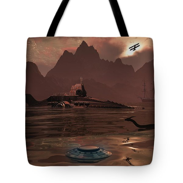 Artists Concept Of An Ancient Tote Bag by Mark Stevenson