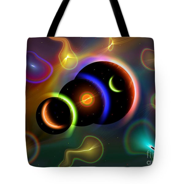 Artists Concept Of Cosmic Portals Tote Bag by Mark Stevenson