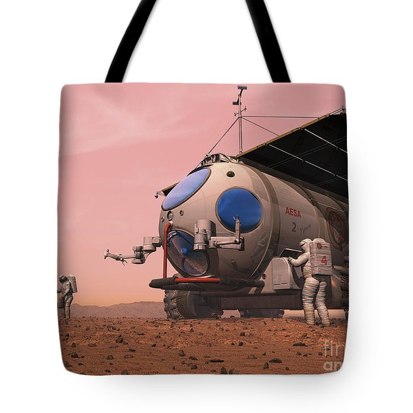 Artists Concept Of How A Martian Tote Bag by Walter Myers