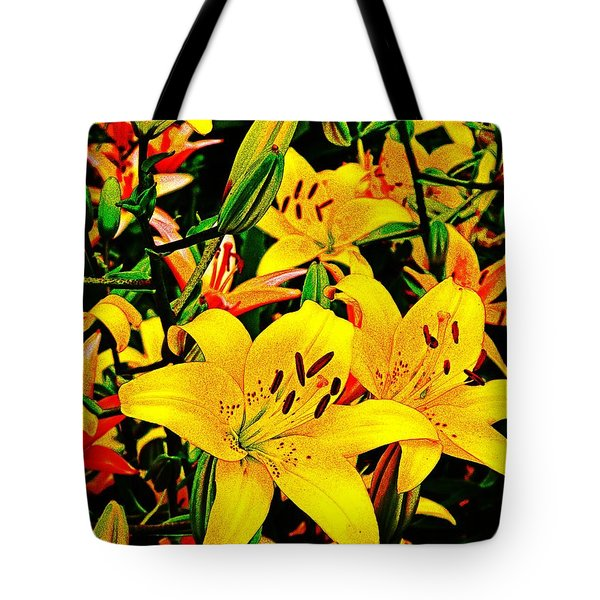 Asiatics In May  Tote Bag by Chris Berry