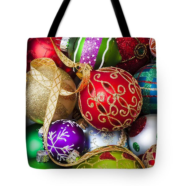 Assorted Beautiful Ornaments Tote Bag by Garry Gay