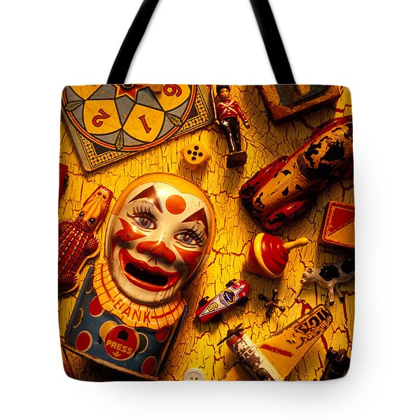 Assorted Old Toys Tote Bag by Garry Gay