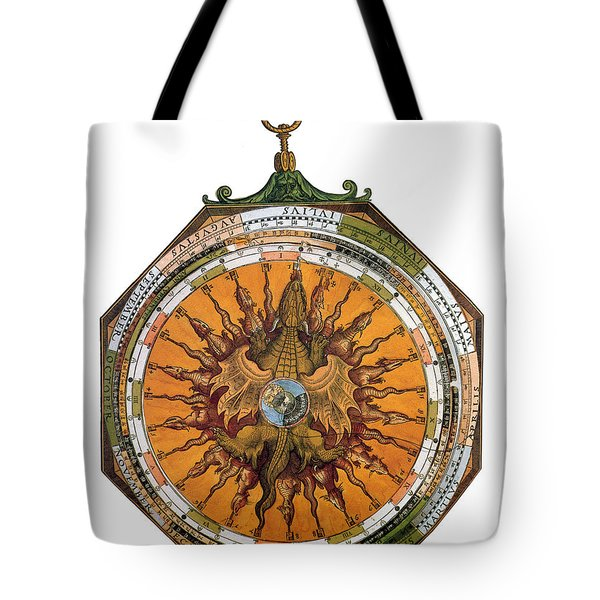 Astronomicum Caesareum With Dragon Tote Bag by Photo Researchers