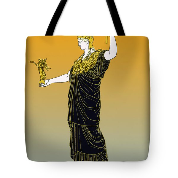 Athena, Greek Goddess Tote Bag by Photo Researchers