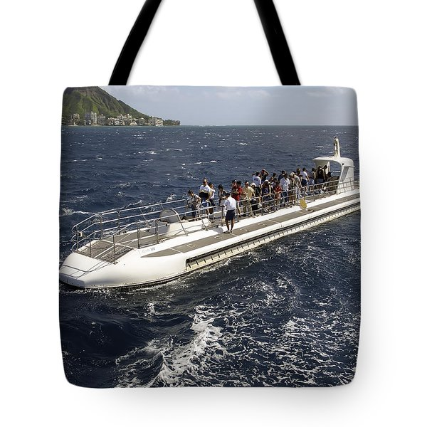 Atlantis Submarine - Waikiki Bay Hawaii Tote Bag by Daniel Hagerman