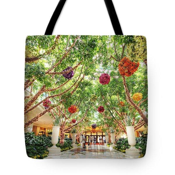 Atrium At The Wynn 2 Tote Bag by Jessica Velasco