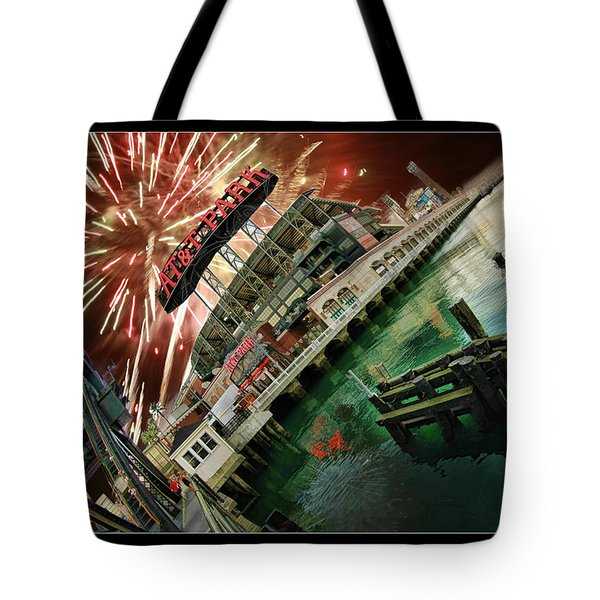 Att Park And Fire Works Tote Bag by Blake Richards