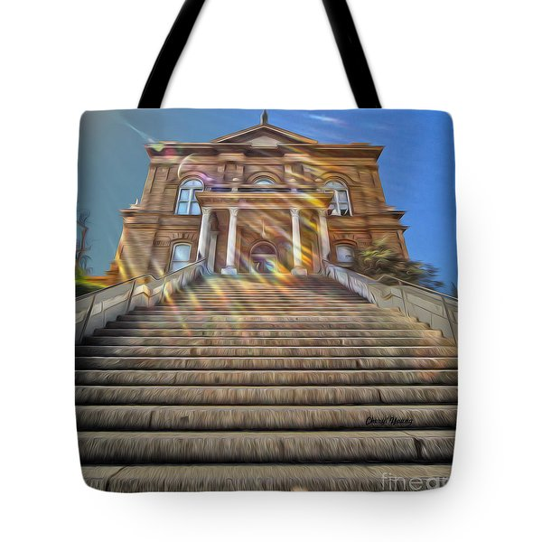 Auburn Courthouse Tote Bag by Cheryl Young