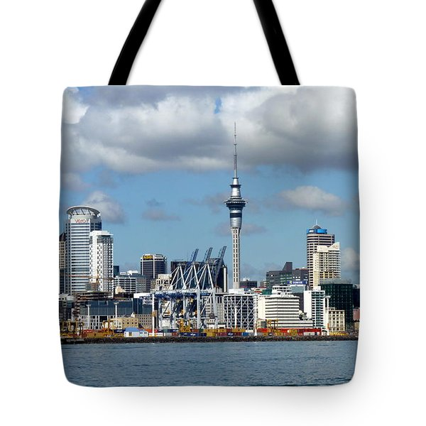 Auckland Skyline Tote Bag by Carla Parris