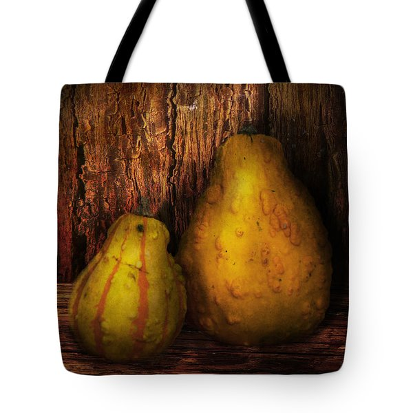 Autumn - Gourd - A pair of squash  Tote Bag by Mike Savad